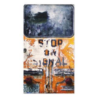 Autobús escolar del vintage tarjetas de visita
