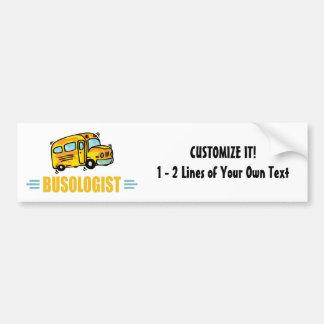 Autobús escolar divertido etiqueta de parachoque