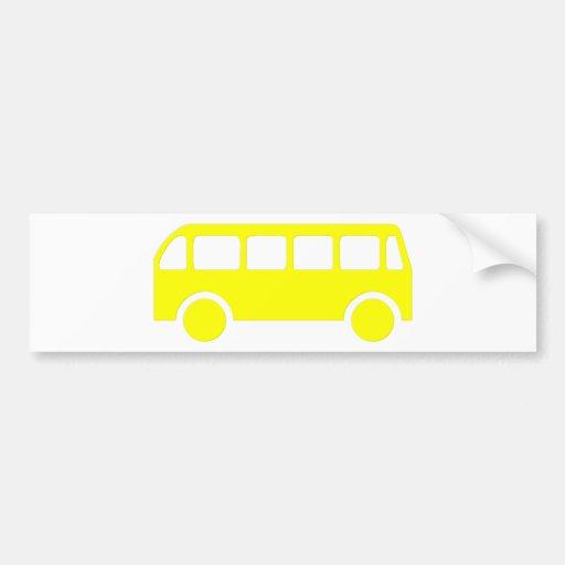 Autobús escolar etiqueta de parachoque