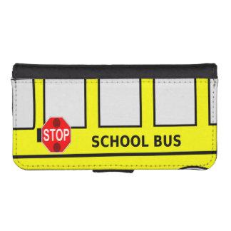 Autobús escolar fundas tipo billetera para iPhone 5