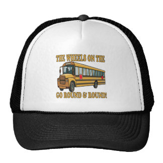 Autobús escolar gorro de camionero