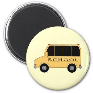 Autobús escolar imán redondo 5 cm