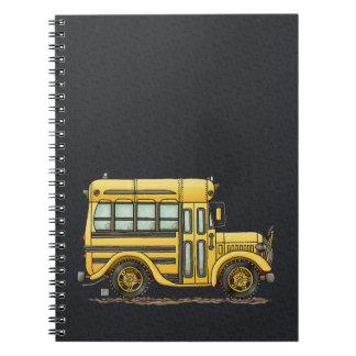 Autobús escolar lindo libreta