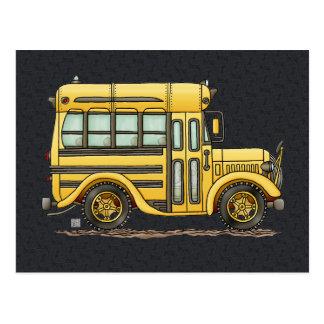Autobús escolar lindo postal