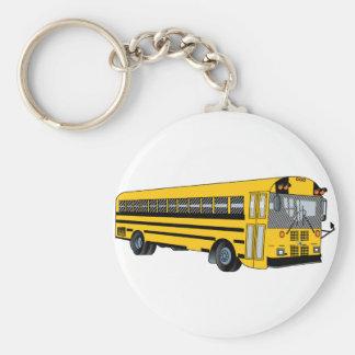 Autobús escolar llavero redondo tipo pin