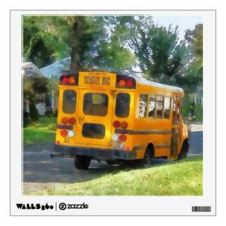 Autobús escolar parqueado