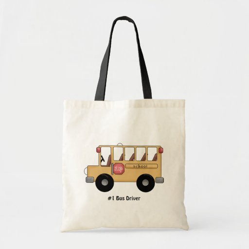 Autobús escolar (personalizable) bolsas de mano