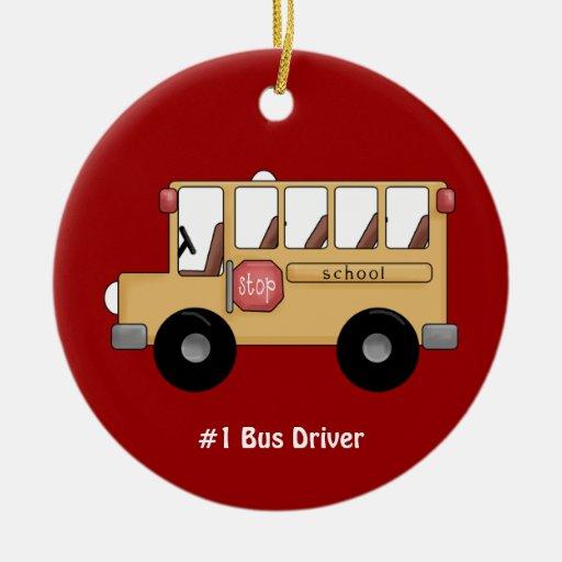 Autobús escolar (personalizable) ornamentos de reyes