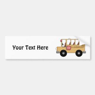 Autobús escolar (personalizable) pegatina para auto