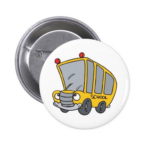 Autobús escolar pin redondo 5 cm