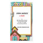 Autobús escolar plantillas de tarjetas de visita