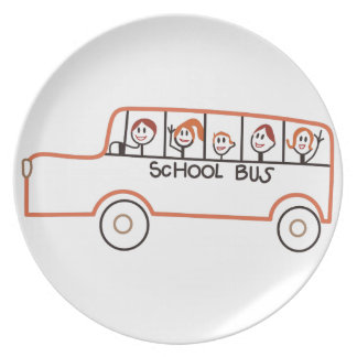 Autobús escolar plato de comida