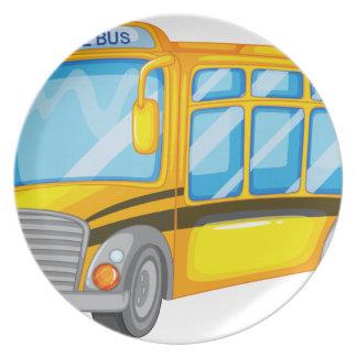 Autobús escolar plato