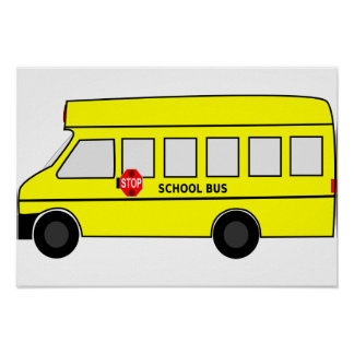 Autobús escolar póster