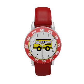 Autobús escolar relojes de mano