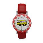 Autobús escolar relojes de pulsera