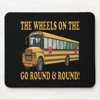 Autobús escolar tapete de ratón