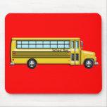 Autobús escolar tapete de raton