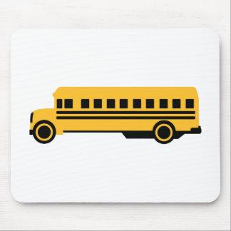 Autobús escolar tapete de ratones