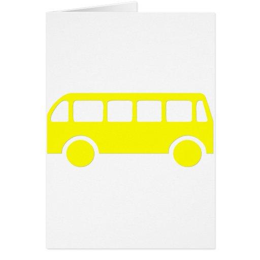 Autobús escolar tarjeta de felicitación