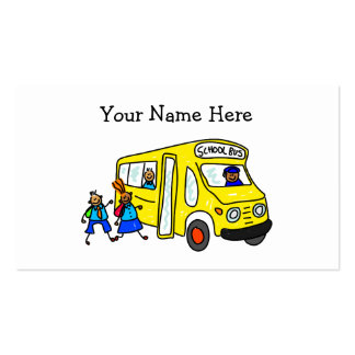 Autobús escolar tarjetas de visita