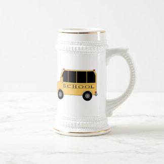 Autobús escolar tazas