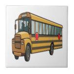 Autobús escolar tejas  cerámicas