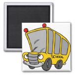 Autobús escolar tonto imanes de nevera