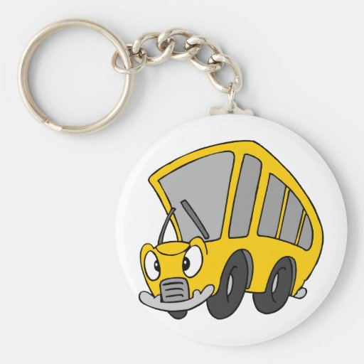 Autobús escolar torpe llavero personalizado