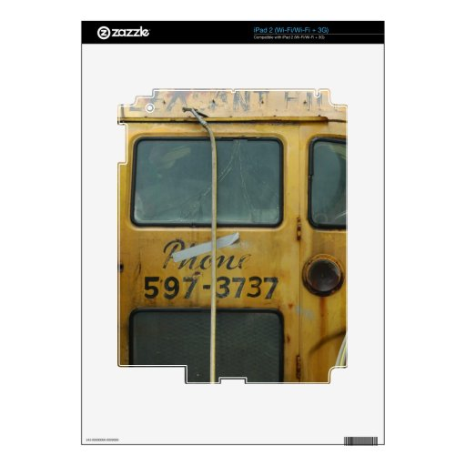 Autobús escolar viejo calcomanía para el iPad 2