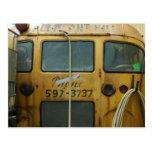 Autobús escolar viejo postales