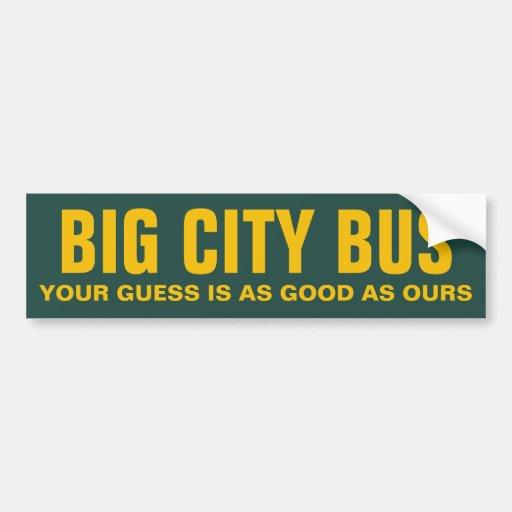 Autobús grande de la ciudad pegatina de parachoque