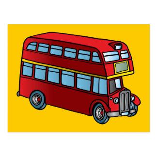 Autobús lindo del autobús de dos pisos tarjetas postales