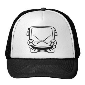 Autobús minúsculo gorras de camionero