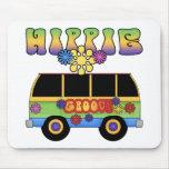 Autobús Mousepad del Hippie Alfombrillas De Ratón