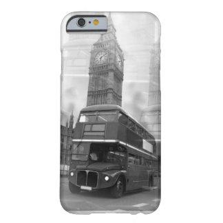 Autobús negro y blanco de BW Big Ben de Londres y Funda De iPhone 6 Barely There