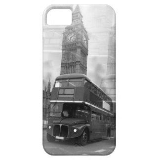 Autobús negro y blanco de BW Big Ben de Londres y Funda Para iPhone SE/5/5s
