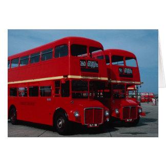 """Autobús original del """""""" de Routemaster del """""""" de L Tarjeta De Felicitación"""