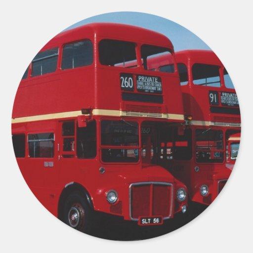 """Autobús original del """""""" de Routemaster del """""""" de Pegatina Redonda"""