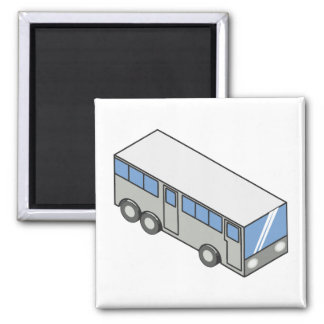 Autobús rectangular imán cuadrado