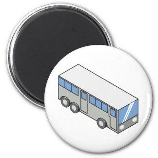 Autobús rectangular imán redondo 5 cm