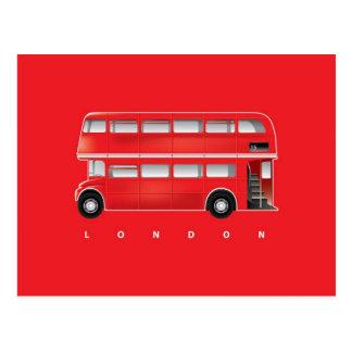 Autobús rojo de Londres - autobús de dos pisos Tarjetas Postales