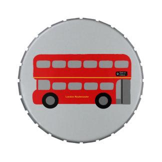 Autobús rojo de Londres Frascos De Caramelos