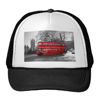 Autobús rojo de Londres Routemaster Gorros Bordados