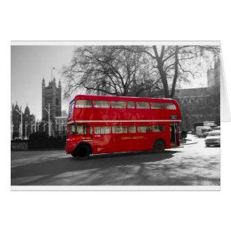 Autobús rojo de Londres Routemaster Tarjeta De Felicitación