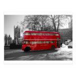 Autobús rojo de Londres Routemaster Tarjeta Postal