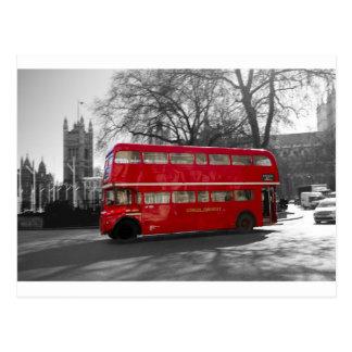 Autobús rojo de Londres Routemaster Postales
