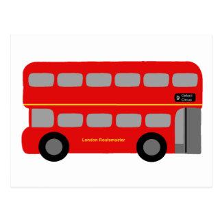 Autobús rojo de Londres Tarjeta Postal