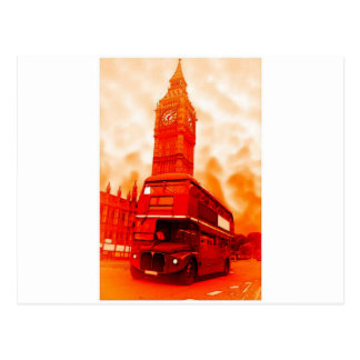 Autobús rojo de Londres y Big Ben Postales