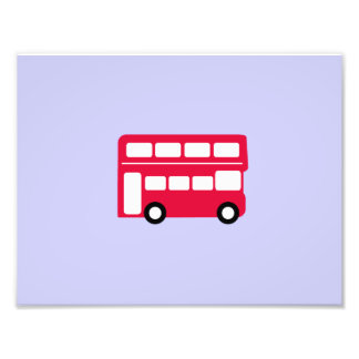 Autobús rojo grande fotografía